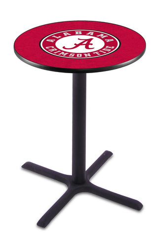 "Alabama Crimson Tide ""A"" Pub Table Black Cross Base 36"" High"