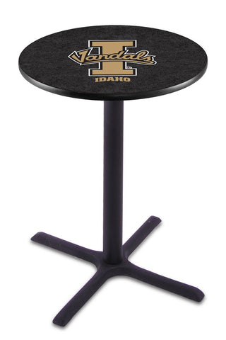"Idaho Vandals Pub Table Black Cross Base 42"" High"