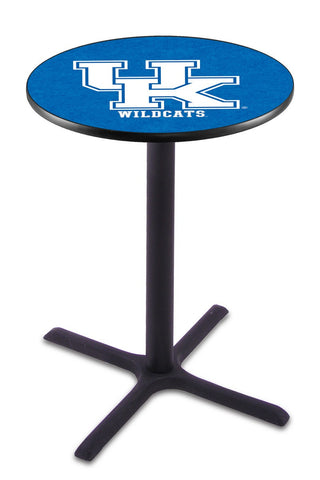 "Kentucky Wildcats UK Pub Table Black Cross Base 36"" High"