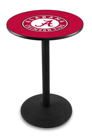 "Alabama Crimson Tide ""A"" Pub Table Black Wrinkle Base 36"" High"