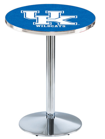 "Kentucky Wildcats UK Pub Table Chrome Round Base 36"" High"