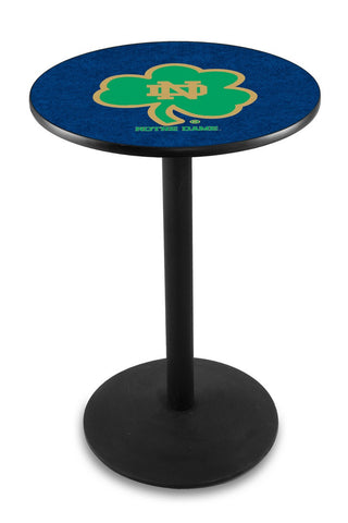 "Notre Dame  (Shamrock) Pub Table Black Wrinkle Base 36"" High"