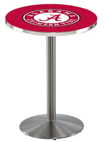 "Alabama Crimson Tide ""A"" Pub Table Stainless Base 36"" High"