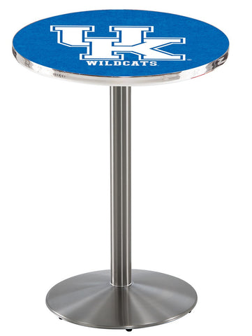 "Kentucky Wildcats UK Pub Table Stainless Base 36"" High"