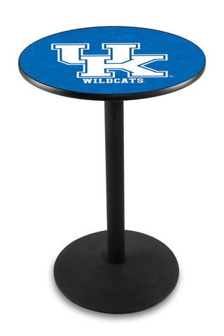 "Kentucky Wildcats UK Pub Table Black Wrinkle Base 36"" High"
