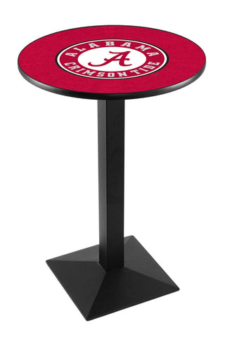 "Alabama Crimson Tide ""A"" Pub Table Black Square Base 36"" High"