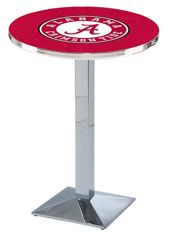 "Alabama Crimson Tide ""A"" Pub Table Chrome Square Base 42"" High"