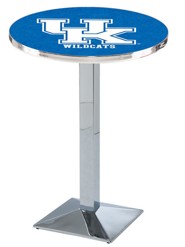 "Kentucky Wildcats UK Pub Table Chrome Square Base 42"" High"