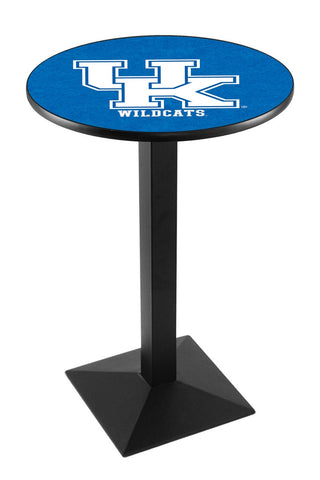 "Kentucky Wildcats UK Pub Table Black Square Base 42"" High"
