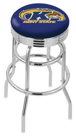 Kent State Golden Flashes Retro II Bar Stool 30""