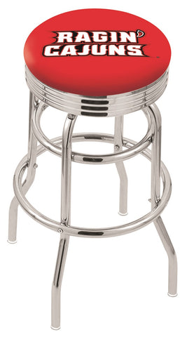 Louisiana Lafayette Ragin Cajuns Retro II Bar Stool 25""