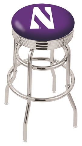 Northwestern Wildcats Retro II Bar Stool 25""