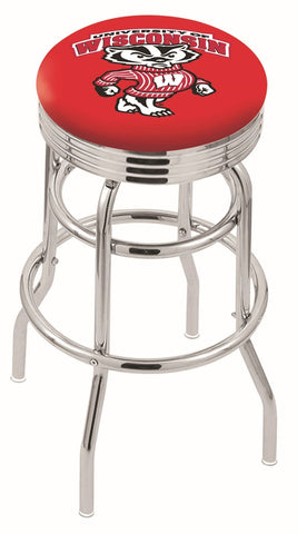 Wisconsin Badgers Retro II Bar Stool 30""