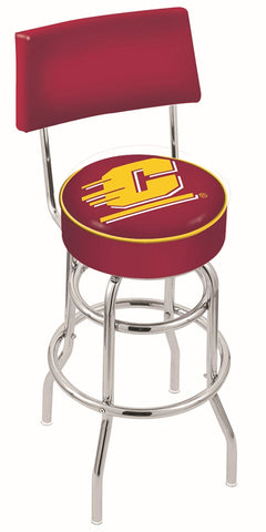 Central Michigan Chippewas Retro Bar Stool with Back 30""