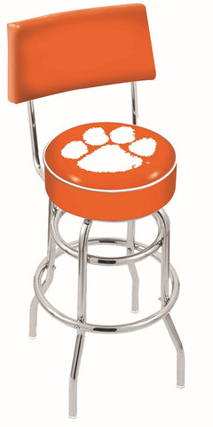 Clemson Tigers Retro Bar Stool with Back 30""