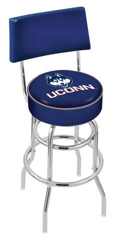 Connecticut Huskies Retro Bar Stool with Back 25""
