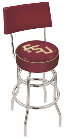 FSU Seminoles Retro Bar Stool with Back 30""
