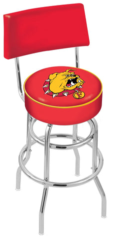 Ferris State Bulldogs Retro Bar Stool with Back 25""