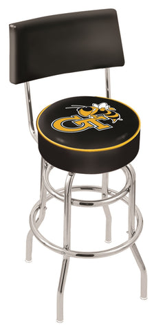 Georgia Tech Yellow Jackets Retro Bar Stool with Back 25""