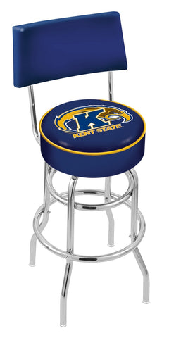 Kent State Golden Flashes Retro Bar Stool with Back 30""