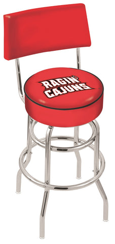 Louisiana Lafayette Ragin Cajuns Retro Bar Stool with Back 25""