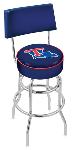 Louisiana Tech Bulldogs Retro Bar Stool with Back 25""