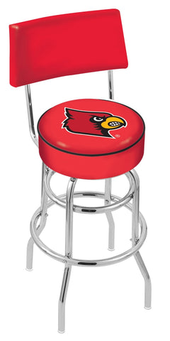 Louisville Cardinals Retro Bar Stool with Back 25""