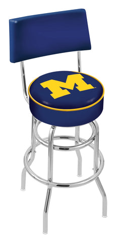 Michigan Wolverines Retro Bar Stool with Back 25""