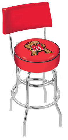 Maryland Terrapins Retro Bar Stool with Back 25""