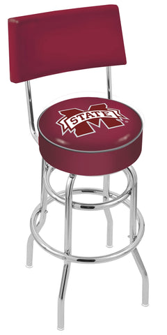Mississippi State Bulldogs Retro Bar Stool with Back 30""