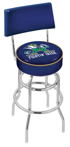 Notre Dame (Leprechaun) Retro Bar Stool with Back 30""