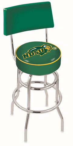 North Dakota State Bison Retro Bar Stool with Back 30""