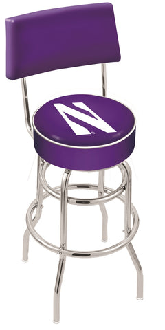 Northwestern Wildcats Retro Bar Stool with Back 25""