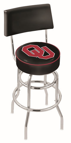 Oklahoma Sooners Retro Bar Stool with Back 25""