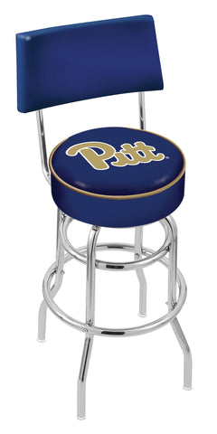 Pittsburgh Panthers Retro Bar Stool with Back 25""