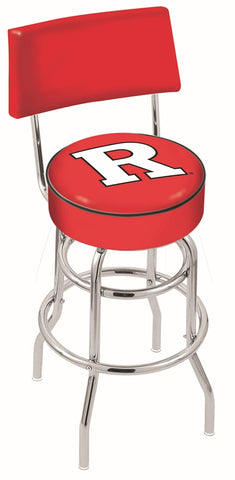 Rutgers Scarlet Knights Retro Bar Stool with Back 25""