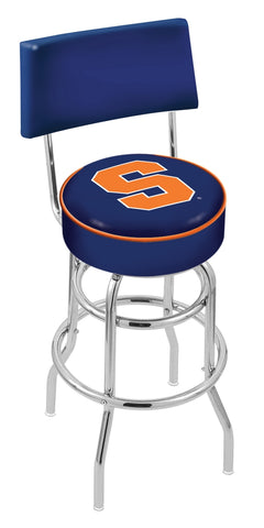 Syracuse Orange Retro Bar Stool with Back 25""