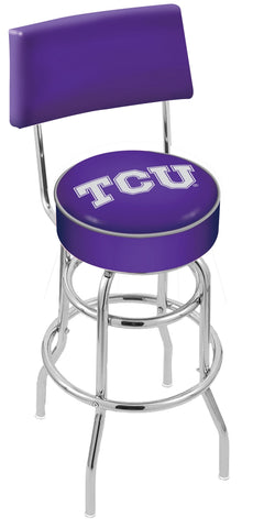 TCU Horned Frogs Retro Bar Stool with Back 30""