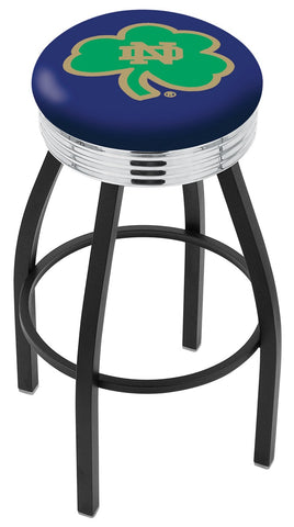 Notre Dame  (Shamrock) Contempo IV Bar Stool 25""