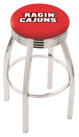 Louisiana Lafayette Ragin Cajuns Modern III Bar Stool 25""