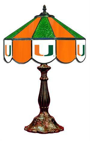Miami Hurricanes Table Lamp 21 in High