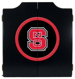 NC State Wolfpack Dartboard Cabinet in Black Finish