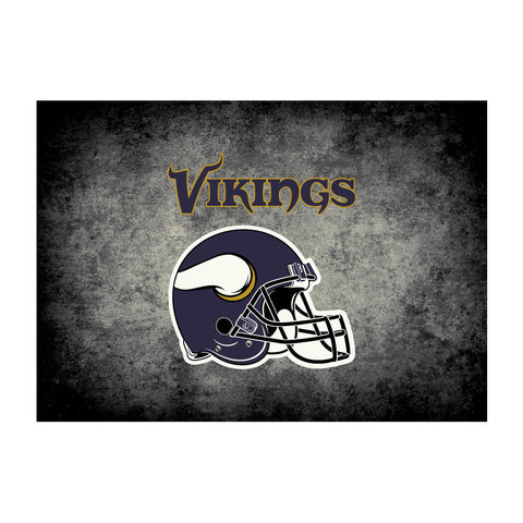 Minnesota Vikings 4X6 Distressed Rug