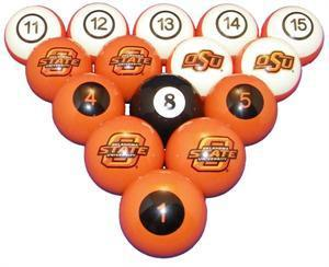 Oklahoma State Sooners Numbered Pool Balls