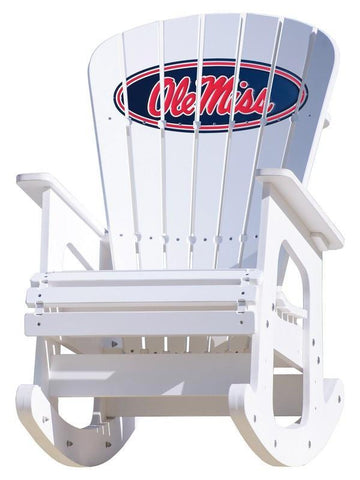 Ole Miss Rebels Adirondack Rocking Chair