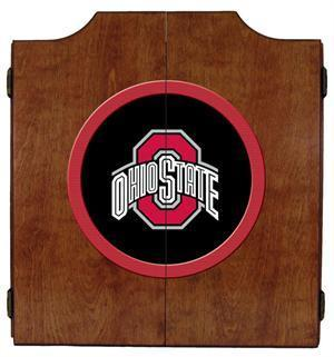 Ohio State Buckeyes Dartboard Cabinet in Pecan Finish
