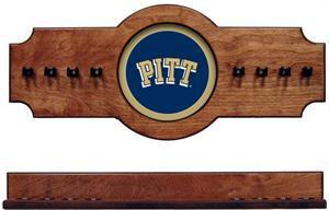 Pitt Panthers Pool Cue Rack in Pecan Finish