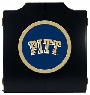 Pitt Panthers Dartboard Cabinet in Black Finish