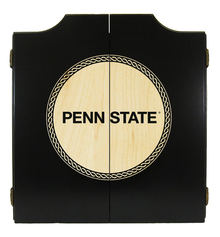 Penn State Nittany Lions Dart Cabinet Laser Engraved in Black Finish