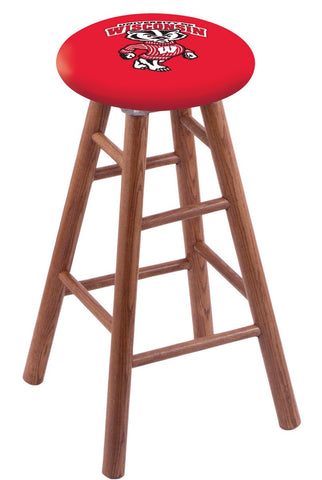 "Wisconsin Badgers ""Badger"" Logo 24"" Counter Stool"